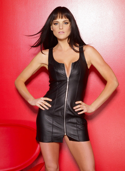 Leather Dress with Zipper