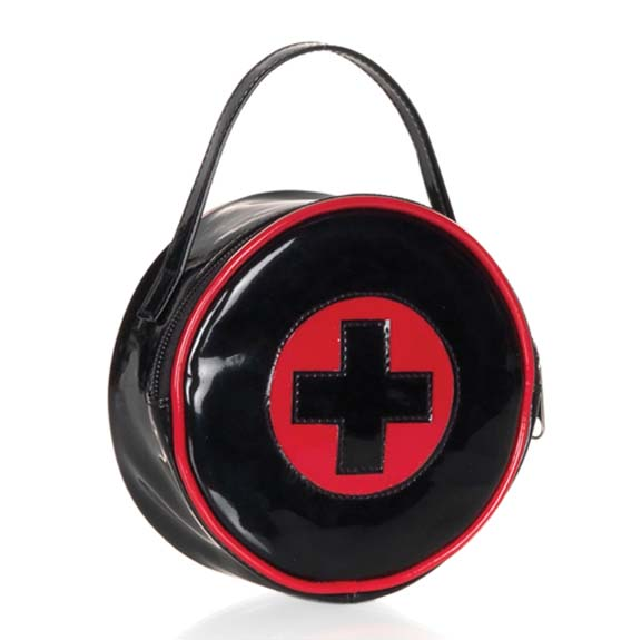 Black And Red Nurse Bag With Cross